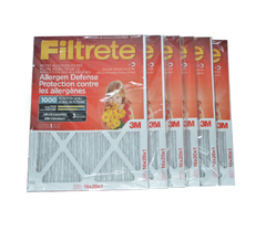 3M Filtrete 16x20x1 Furnace Filter MPR 1000. Case of 6.