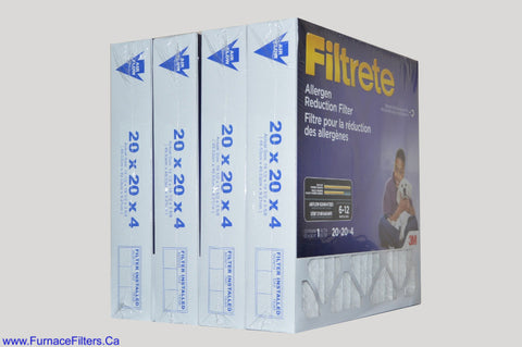 3M Filtrete 20x20x4 Furnace Filter Case of 4.