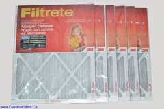 3M Filtrete 20x25x1 Furnace Filter MPR 1000. Case of 6.