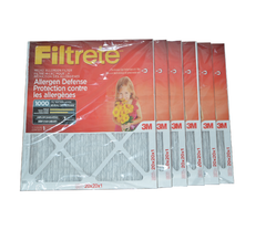 3M Filtrete 20x20x1 Furnace Filter MPR 1000. Case of 6.