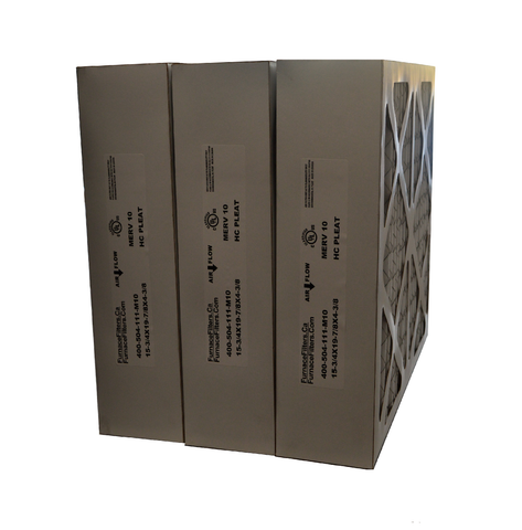 "16x20x5 (4 3/8) Honeywell Size Furnace Replacement Filter, Actual Size 15 15/16"" x 19 3/4"" x 4 3/8"" MERV 10. Case of 3"