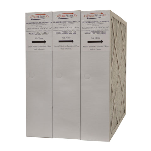 "Carrier FILCCCAR0020 Furnace Filter Size 20 x 25 x 4 5/16"" MERV 13. Case of 3"