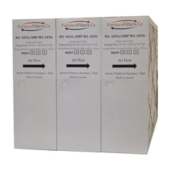 "M1-1056 MERV 10 Replacement Filter. Actual Size 15 3/8"" x 25 1/2"" x 5 1/4."" Case of 3 by Furnace Filters.Ca"