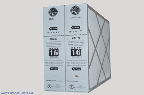 "Lennox X8790 Furnace Filter Healthy Climate MERV 16 for PCO14-23. Actual Size 20"" x 20 5/8"" x 4 3/8"" Package of 2."