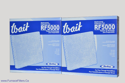 "Wait RF 5000 Replacement Evaporator Pad for Model 5000 & 6000 Flow Through Humidifier. Pkg. of 2<br> <li><strong><span style=""background-color: #ffff00;"">Pick Up at Store Price $35.00</span></strong></li>"