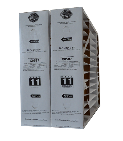 Lennox X0587 Furnace Filter 20x26x5 Healthy Climate MERV 11 for BMAC-20CE. Package of 2.