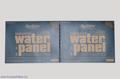 Aprilaire 12 Humidifier Water Panel For Models 112, 136, 224, 440, 445A. Package of 2.