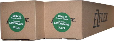 "Carrier EXPXXFIL0316 Furnace Filter Size 16 x 25 x 4 5/16"" MERV 13 Case of 2."