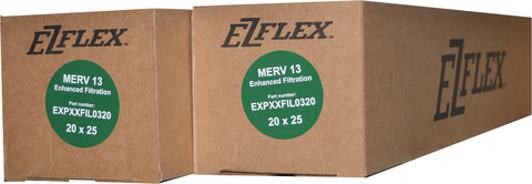 CARRIER Genuine Part # EXPXXFIL0320 / EXPCCFIL0320 / EXPBBFIL0320. MERV 13. Package of 2.