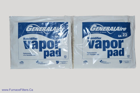 GA23 Humidifier Pad for Generalaire / Reservepro 950, 950X, 1099LHS Humidifiers. Package of 2.