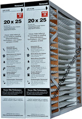 "Honeywell 20x25x4 Furnace Filter Model # FC200A1037 MERV 13. Actual Size 19 15/16"" x 24 7/8"" x 4 3/8"" Case of 2."