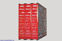 Reservepro 4521 or 14164 Mac 1200, Genuine 16x25x3 MERV 8. Package of 3.
