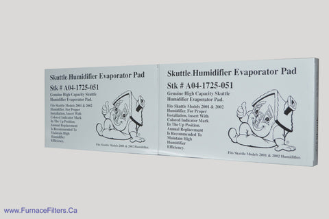 "Skuttle Evaporator PAD A04-1725-051. Actual Size 16 1/2"" x 10"" x 1 1/2"". Package of 2"