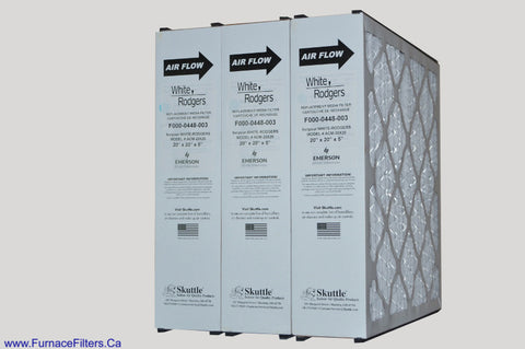 White Rodgers F000-0448-003 Furnace Filter Filter for Model # ACM-20. Case of 3.