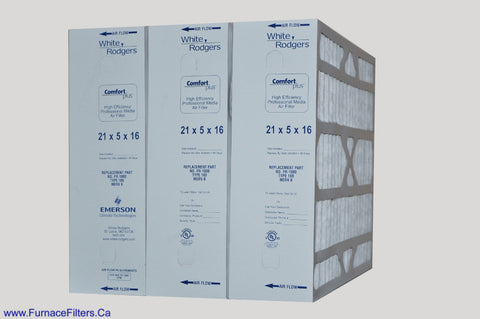 FR1000-100 21x5x16 White Rodgers Replacement Filter 21x5x16. Case of 3
