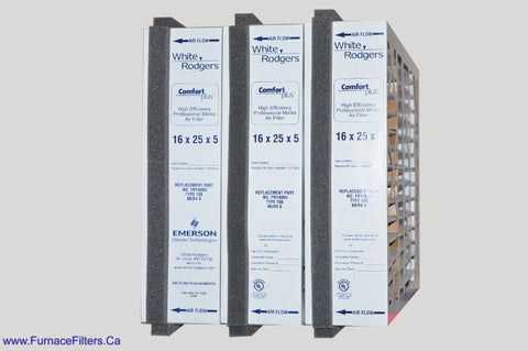 "FR1400U-108 White Rodgers 16x25x5 With Foam Strips. Actual Size is 15 1/2"" x 24"" x 4 3/8"" Case of 3."