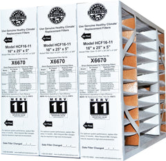 Lennox X6670 Furnace Filter 16x25x5 Healthy Climate MERV 11 for HCF16-11 & HCC 16-28 Actual Size 15 3/4 x 24 3/4 x 4 3/8 Case of 3.