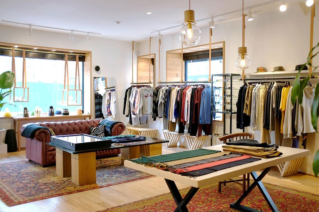 Inside the Noah store location at 195 Mulberery Street in New York