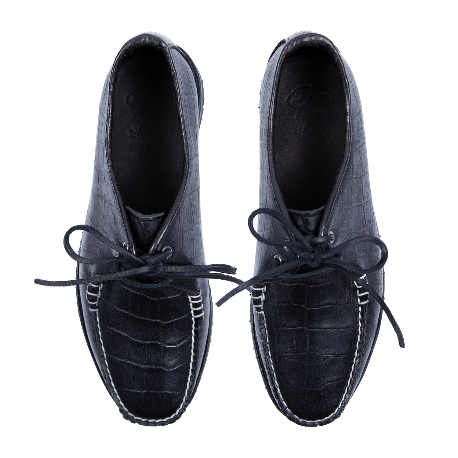 Noah x Sperry Faux-Croc Embossed Captain's Oxford