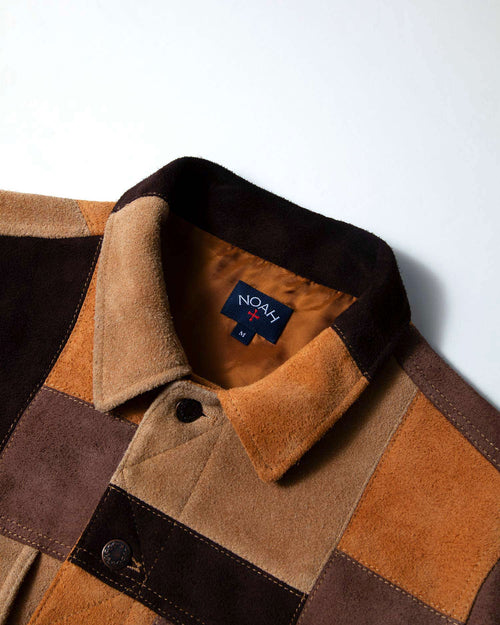 Noah - Noah x Earth, Wind & Fire Suede Patchwork Jacket - Image - 3