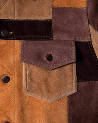 Noah - Noah x Earth, Wind & Fire Suede Patchwork Jacket - 4