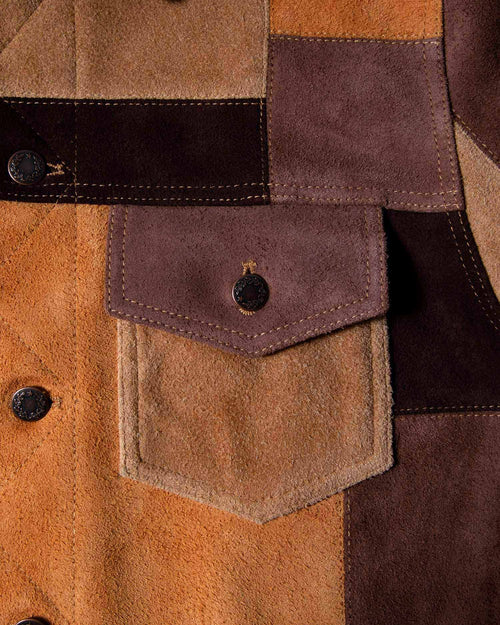 Noah - Noah x Earth, Wind & Fire Suede Patchwork Jacket - Image - 4