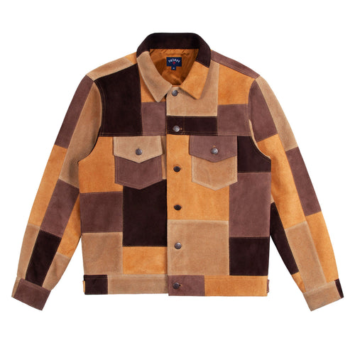 Noah - Noah x Earth, Wind & Fire Suede Patchwork Jacket - Image - 2