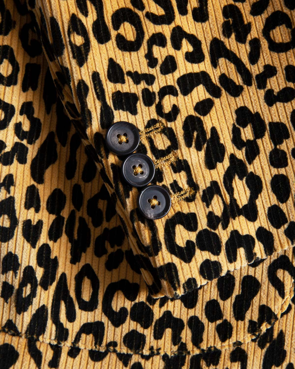 Leopard Corduroy Double-Breasted Sport Coat