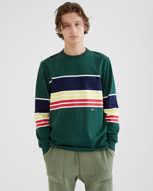 Border Stripe Crewneck