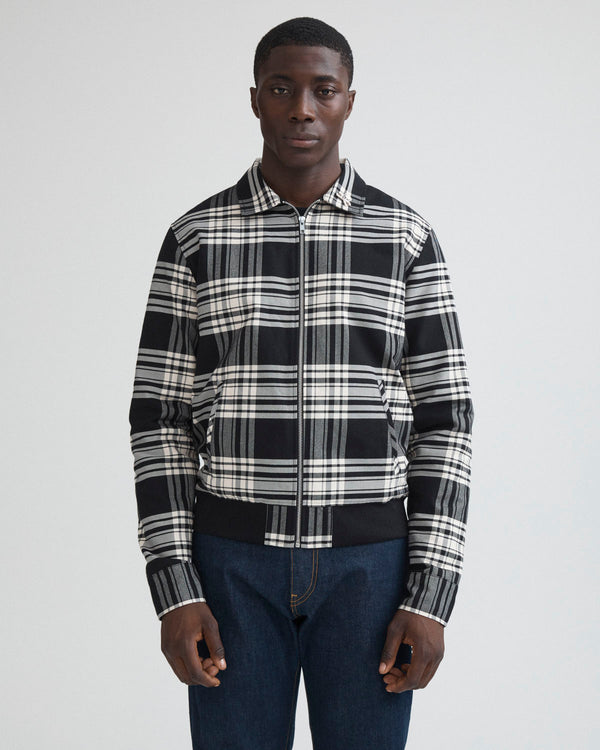 Tartan Plaid Bomber Jacket