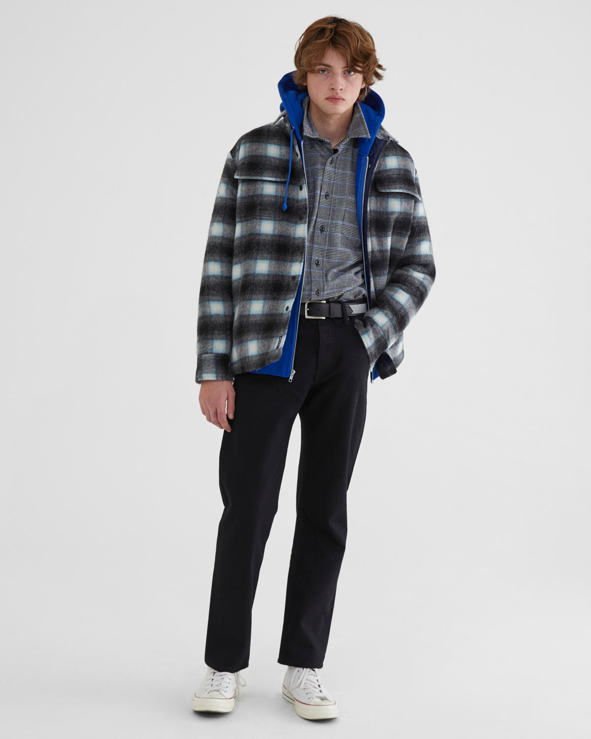 Quilted Shadow Plaid Shirt