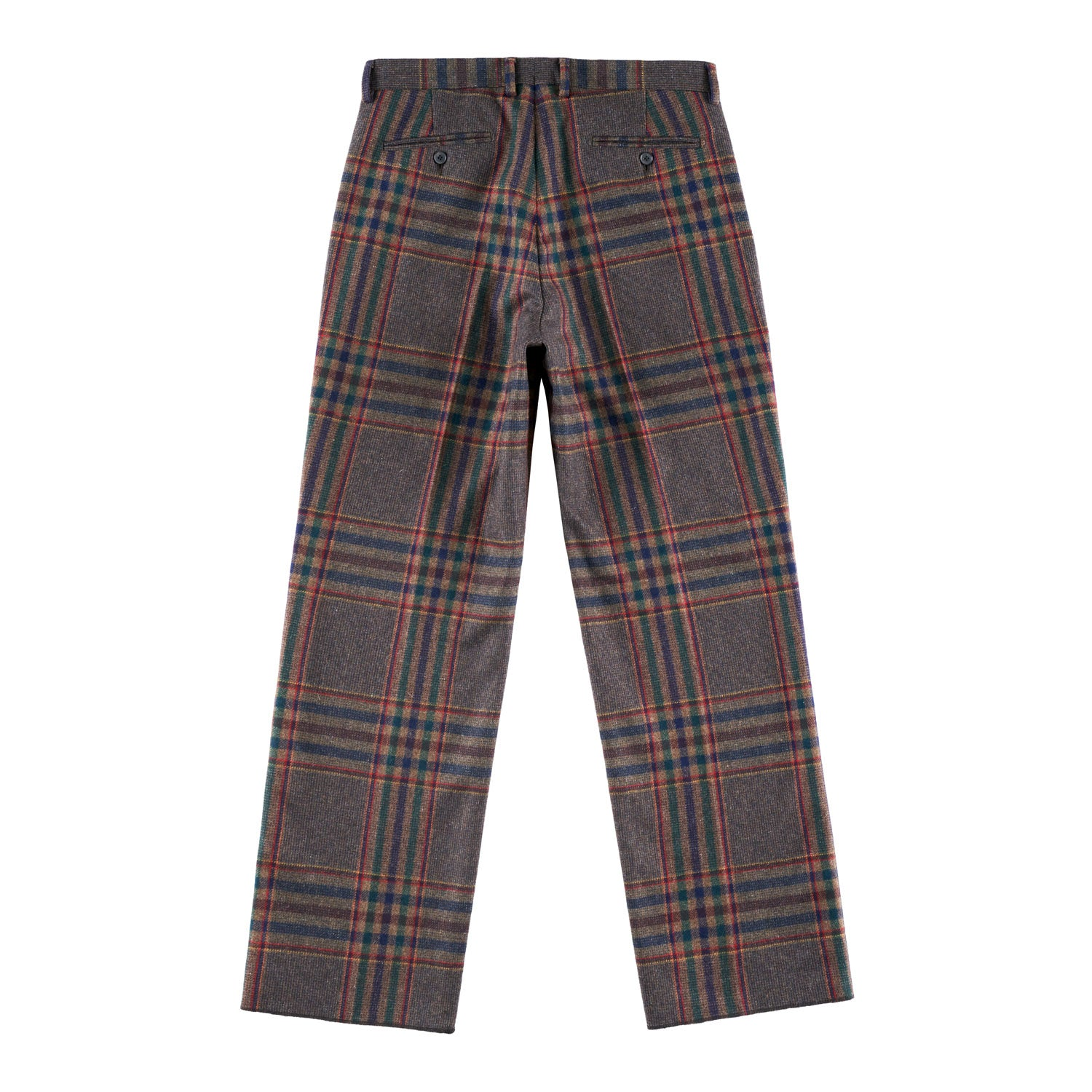 Multi-Plaid Flat Front Trouser