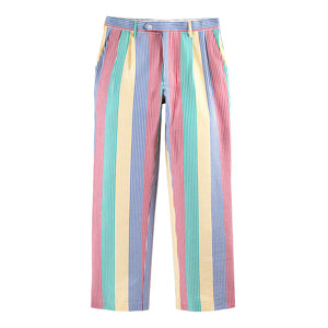 Double-Pleat Seersucker Pant