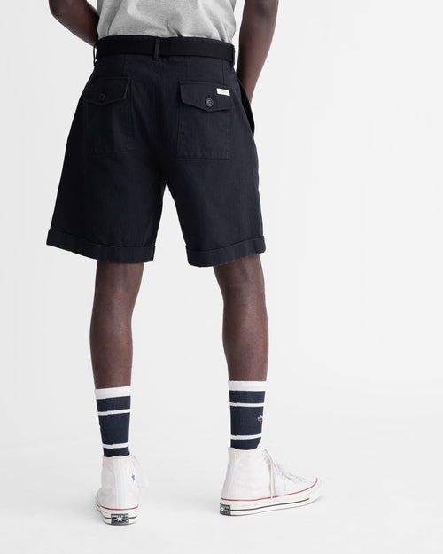 Noah - Herringbone Double-Pleat Shorts - Image - 10