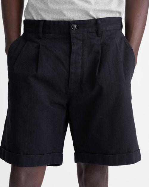 Noah - Herringbone Double-Pleat Shorts - Image - 13