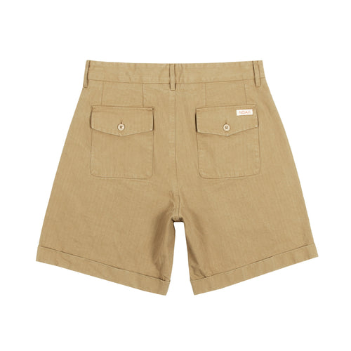 Noah - Herringbone Double-Pleat Shorts - Image - 2