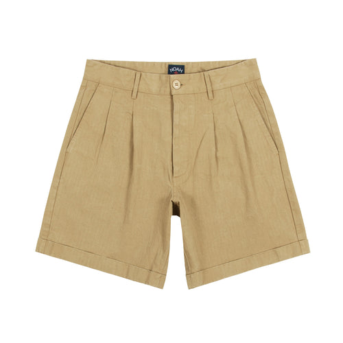 Noah - Herringbone Double-Pleat Shorts - Image - 1