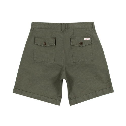 Noah - Herringbone Double-Pleat Shorts - Image - 6