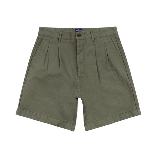 Noah - Herringbone Double-Pleat Shorts - Image - 5