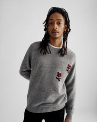 Noah - Flower Instarsia Lambswool Sweater - 10