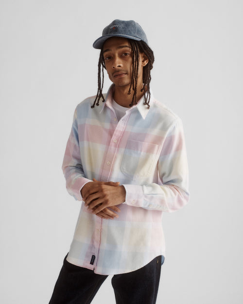 Noah - Lightweight Pastel Plaid Flannel - Image - 7