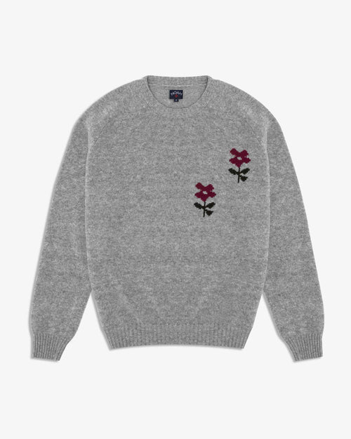 Noah - Flower Instarsia Lambswool Sweater - Image - 1