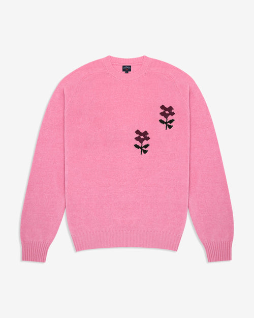 Noah - Flower Instarsia Lambswool Sweater - Image - 3