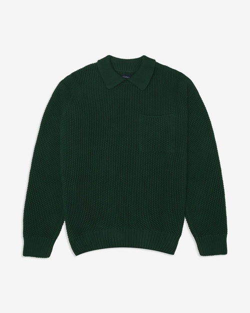 Noah - Collar Seed Stich Sweater - Image - 3