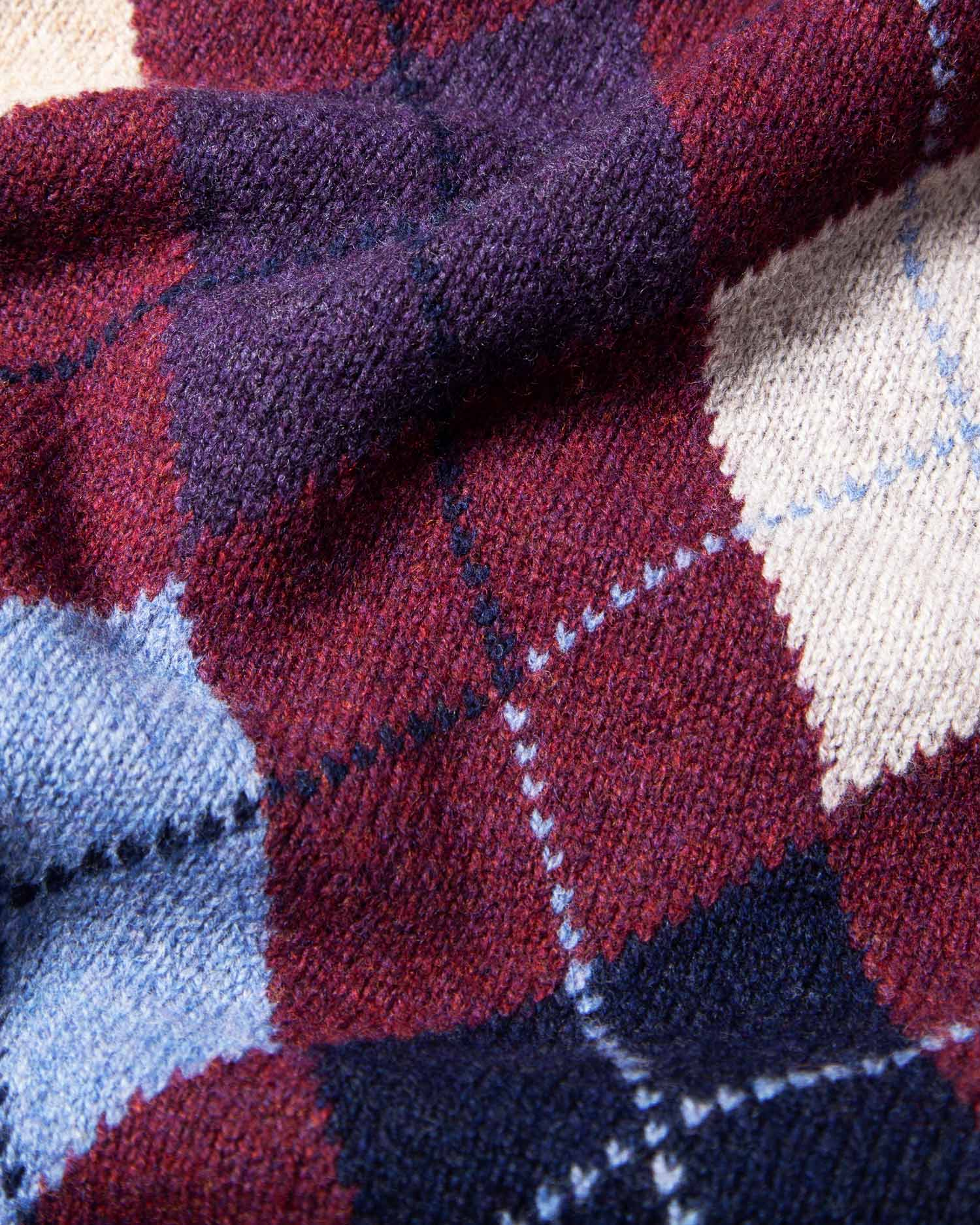 Argyle Intarsia Lambswool Sweater
