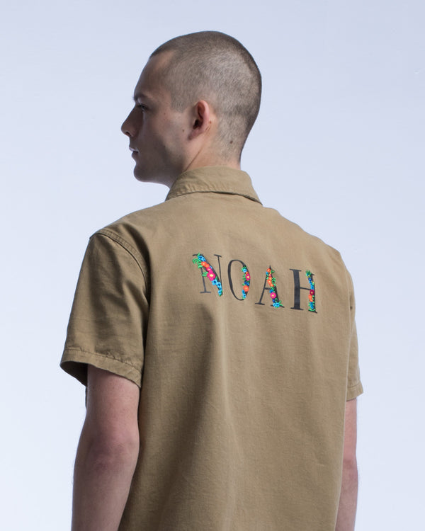 Botanical Logo Military Shirt