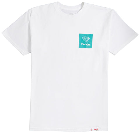 DIAMOND SUPPLY CO MINI OG LOGO TEE - WHITE
