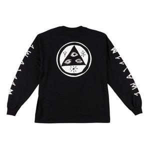 WELCOME TALI SCRAWL LONG SLEEVE TEE BLACK/WHITE
