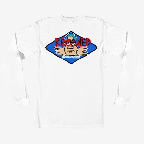 KROOKED ARKETYPE LONG SLEEVE TEE - WHITE