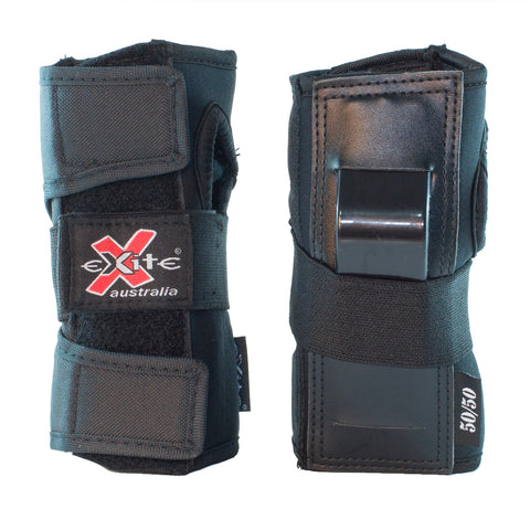 EXCITE 50/50 WRIST GUARDS - BLACK